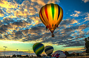 Arizonia Posters - Hot Air Balloon Lift Off Poster by Robert Bales