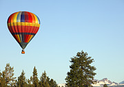 Joe Klune Metal Prints - Hot air balloon over Bend Metal Print by Joe Klune