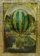 Sarah Vernon Prints - Hot Air Balloon Voyage Print by Sarah Vernon