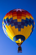 Flags Flying Prints - Hot Air Balloon With American Flag Print by Garry Gay