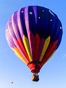 Hot-air Balloon Prints - Hot Air Ballooning in Vermont Print by Edward Fielding