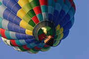 Balloon Fest Framed Prints - Hot Air Ballooning with Flame Framed Print by Jaime Costanzo
