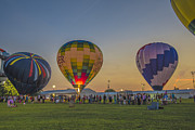 Indianapolis Art - Hot Air Balloons 10 by David Haskett