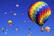 Rainbow Colors Posters - Hot Air Balloons 15 Poster by Bob Christopher