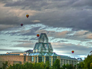 Ottawa Digital Art - Hot air balloons festival by Eti Reid
