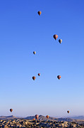 Cappadocia Posters - Hot Air Balloons Over Gorome Cappadocia Poster by Robert Preston