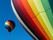 Hot Air Balloon Photos - Hot Air Balloons Quechee Vermont by Edward Fielding