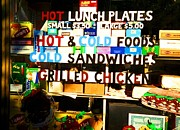 Window Signs Art - Hot and Cold Foods by Miriam Danar
