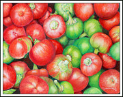 Hot Peppers Prints - Hot Cherry Peppers Print by Mariarosa Rockefeller