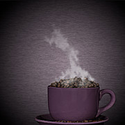 Smoke Art Prints - Hot Coffee Print by Gert Lavsen