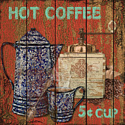 Granite Mixed Media Posters - Hot Coffee Poster by Jean PLout
