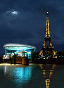 Crescent Moon Digital Art Prints - Hot Dog in Paris Print by Mike McGlothlen