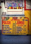 Ketchup Framed Prints - Hot Dog Stand Framed Print by Valentino Visentini
