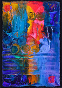 Navy Pastels Originals - Hot Flashes #1 by Tracy L Teeter