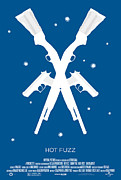 Movie Posters Metal Prints - Hot Fuzz Cornetto Trilogy Custom Poster Metal Print by Jeff Bell