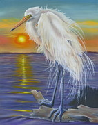 Waterfowl Paintings - Hot Legs by Phyllis Beiser