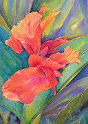 Canna Painting Framed Prints - Hot Pants Framed Print by Annika Farmer