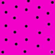 80s Prints - Hot Pink Dots - Pop Art Print by Absinthe Art By Michelle LeAnn Scott