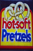 Local Food Posters - Hot Pretzels Poster by Skip Willits