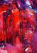Drips Paintings - Hot Rain by Jean Baardsen