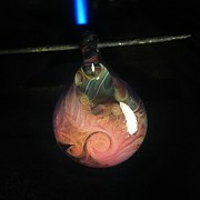 Art Jewelry - Hot reversible pendant by Deenie Wallace