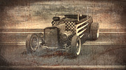 T Bucket Rat Rod Posters - Hot Rod 3 Poster by Joshua Fowler