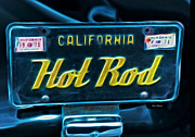 License Plates Prints - Hot Rod Print by Cheryl Young