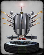 Frederico Borges Art - Hot Rod crest by Frederico Borges