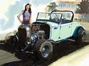 Rg Mcmahon Framed Prints - Hot Rod Ford Framed Print by RG McMahon