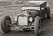 Gregory Dyer - Hot Rod Ford - sepia toned