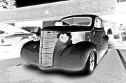 Monochrome Hot Rod Framed Prints - Hot Rod Framed Print by Gary Silverstein