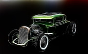 White Walls Framed Prints - Hot Rod Green Framed Print by Steve McKinzie