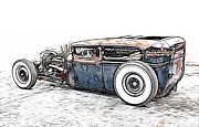 Ford Sedan Framed Prints - Hot Rod Sedan Framed Print by Steve McKinzie