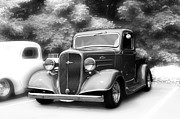 Monochrome Hot Rod Prints - Hot Rod Truck Print by Gary Silverstein