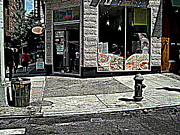 Black Commerce Art - Hot Sidewalk Summer Day by Miriam Danar