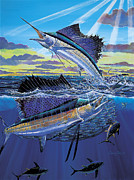 Black Marlin Framed Prints - Hot Spot Off0073 Framed Print by Carey Chen