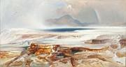 Hot Springs Of Yellowstone Print by Thomas Moran