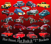 T Bucket Hot Rod Posters - Hot Street and Hot Rods Poster by Jack Pumphrey