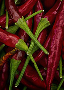 Hot Peppers Framed Prints - Hot Stuff Framed Print by Robert Woodward