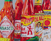 Hot Peppers Painting Originals - Hot Stuff by Steve Teets