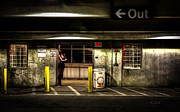 Garage Prints - Hot Summer Night Out Print by Bob Orsillo