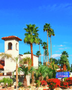 Red Tile Roof Posters - HOTEL CALIFORNIA Palm Springs Poster by William Dey