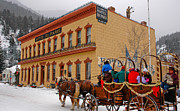 Horse And Wagon Photos - Hotel de Paris Museum Georgetown Colorado by Jeff Black