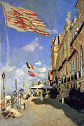 Famous Hotel Paintings - Hotel de Roches Noires a Trouville by Claude Monet
