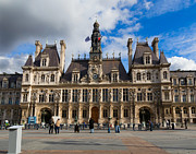 City Hall Prints - Hotel de Ville the Paris City Hall Print by Louise Heusinkveld