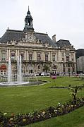 Christiane Schulze Framed Prints - Hotel De Ville - Tours Framed Print by Christiane Schulze