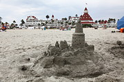 Sand Castles Metal Prints - Hotel Del Coronado In Coronado California 5D24264 Metal Print by Wingsdomain Art and Photography
