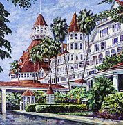 Famous Hotel Paintings - Hotel Del Entrance by Sue Tushingham McNary