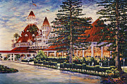 Famous Hotel Paintings - Hotel Del Sunset by Sue Tushingham McNary