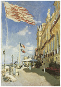 Boardwalk Paintings - Hotel des Roches Noires Trouville by Claude Monet